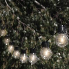 New Lavoir Outdoor LED Solar Powered 10 - Bulb Globe String Light by Ebern Designs. Patio Garden Furniture from top store Solar Patio Lights, Outdoor Hanging Lights, Patio String Lights, Globe String Lights, Patio Lighting, Lighting Ideas, Landscape Lighting, String Lighting, Outdoor Lantern