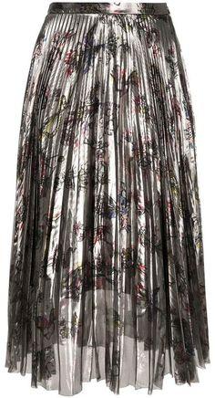 Markus Lupfer pleated floral skirt Floral Pleated Skirt, Markus Lupfer, Fair Lady, Tie Dye Skirt, Women Wear, Sequins, Silk, Skirts, Fashion Design