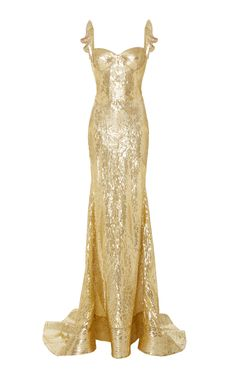 Sweetheart Sequin Embellished Gown  by NAEEM KHAN for Preorder on Moda Operandi