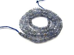 Tanzanite Faceted Rondelle / 2 to 4.5 mm / 165 by beadsofgemstone