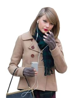 "Here is an awesome and elegant wool jacket. This winter, buy the wool jacket of your favorite singer, ""Taylor Swift"". She looks great in this beige color Wool Jacket. Taylor Swift Style, Taylor Alison Swift, Just Amazing, Awesome, Beige Color, American Singers, Looks Great, Winter Fashion, Wool"