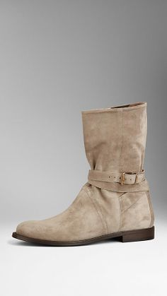 Belted Suede Boots | Burberry