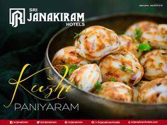 Soft, smooth and spice Kuzhi #Paniyaram looks so #delicious and inviting! Enjoy the real taste now at Srijanakiram Hotels  #srijankiram #kuzhipaniyaram #spice #eveningspecial