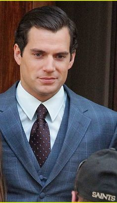 Henry Cavill, the set of his latest film The Man from U.N.C.L.E. on Thursday (October 3) in Rome, Italy.