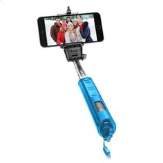 Smart Gear 40 Bluetooth Telescoping Extendable Selfie Stick Monopod, Blue #ad