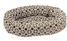 Bowsers Courtyard Taupe Microvelvet Donut Dog Bed