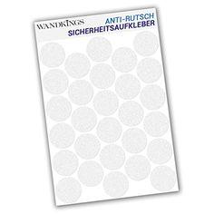 Wandkings Anti-Rutsch-Sticker 28 St�ck Klebepunkte 4,8 cm Durchmesser f�r Sicherheit in Badewanne und Dusche