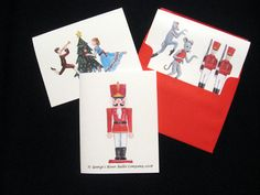 Custom Nutcracker Ballet Character Note Cards – Great for thank-you notes, and invitations!