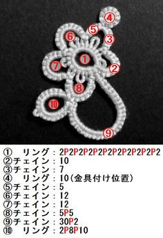 16,000 Handicraft Recipes | Knitting | | knitting, handicrafts, sewing | Atelier how to make [motif] [Tatting] flower motif ④! How to make portal handmade work and handicraft, of goods to make everyone