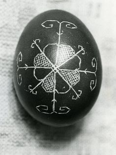 Latvian Easter egg beauty >>> A number of Latvian folk art symbols can be used. The sun represents the bearer of life & began as a simple circle, later evolving into eight separate circles around a center. The auseklis is an eight-sided star that guards against evil at night. The Austra's tree of light or dawn is often combined with the sun symbol. The fire cross represents fire, life, health & prosperity.