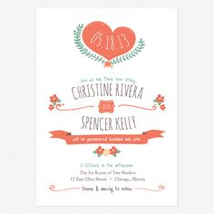"""Casual wedding invitations and the insanity of writing out """"Two Thousand and Thirteen""""   Offbeat Bride"""