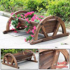 Zuhelnatělé dřevo konzervační květináč kolo / dřevo květináč / květina / venkovní ozdobné květináče koryto dobré výsledky
