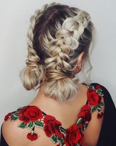 Long Hair Braids: Braided Hairstyles for Long Hair: Double Dutch Braid Bu . - Long Hair Braids: Braided Hairstyles for Long Hair: Double Dutch Braid Buns - Pigtail Hairstyles, Braided Hairstyles Updo, African Hairstyles, Cool Hairstyles, Braided Ponytail, Hairstyles 2018, 2 Buns Hairstyle, Long Hairstyles With Braids, Braided Short Hair