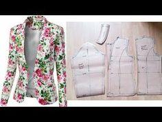 Best 12 How to draft Women's Jacket/ Blazer Coat Patterns, Dress Sewing Patterns, Clothing Patterns, Skirt Patterns, Pattern Sewing, Blouse Patterns, Bodice Pattern, Collar Pattern, Sleeve Pattern