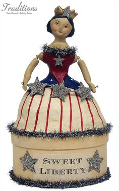 of July & Nicol Sayre. Fourth Of July Decor, 4th Of July Celebration, 4th Of July Party, July 4th, Americana Crafts, Patriotic Crafts, Patriotic Decorations, Paper Mache Clay, Paperclay