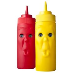 Blink Ketchup & Mustard Set - Red/Yellow. Set includes 2 plastic bottles. #TargetCollege