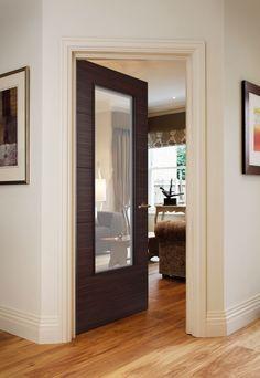 Orta Wenge - contemporary style door for modern homes Cottage Door, Door Design Interior, Timber Door, Traditional Doors, Oak Doors, Single Doors, Internal Doors, Contemporary Style, Tall Cabinet Storage