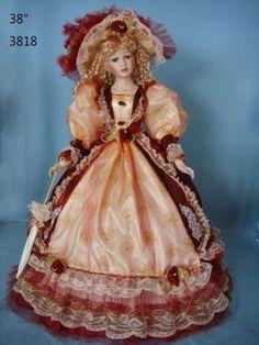 Victorian+Porcelain+Dolls | ... Dolls Porcelain Doll Victorian Style 38 Inch Umbrella Dolls Porcelain