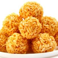 Murmura Ladoo :Crispy ladoos made with puffed rice and molten jaggery.(Bengali) - Gluten Free, Vegan