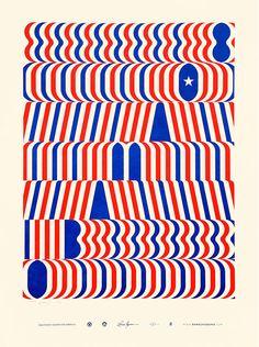 Lance Wyman: Obama 08 poster