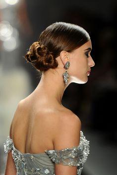 Naeem Khan: Elegant Coiled Bun (Side) #tresemme #hair #hairstyling