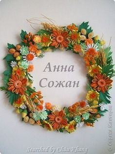 stranamasterov.ru/ The name of artist is written at the center - Quilled wreaths (Searched by Châu Khang)