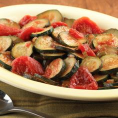 Sautéed Zucchini and Tomatoes… A vegetarian side dish with an assortment of summer flavors, this recipe is quick and easy to make and only involves 2 main ingredients.