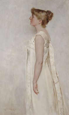 Mary Curtis Richardson - 'Portrait of Mary Blanche Hubbard' 1889,  Crocker Art Museum LocationSacramento, California, USA