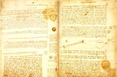 Le Codex Leicester,par Léonard de Vinci, 18 feuilles doubles acheté par Bill Gates 30,8 millions