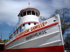 She was run ashore by Camille in 1969