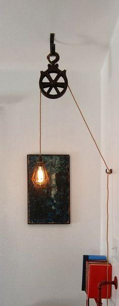 Polea para sujetar lámpara