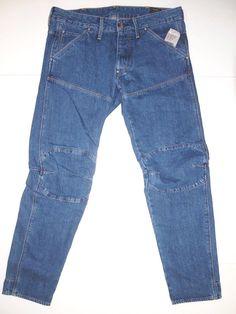 G - Star Raw 5620 bk 3D slim fit men's jeans moto inspired style size 32x32 NEW  #GStarRaw #Slimfit