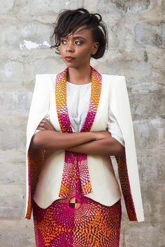 Outstanding Cape Blazer by Nana Wax ~African fashion, Ankara, kitenge, African…
