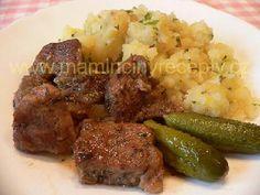 Vepřové výpečky Mashed Potatoes, Pork, Pasta, Beef, Ethnic Recipes, Czech Food, Style, Whipped Potatoes, Kale Stir Fry