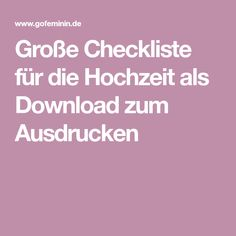 Große Checkliste für die Hochzeit als Download zum Ausdrucken