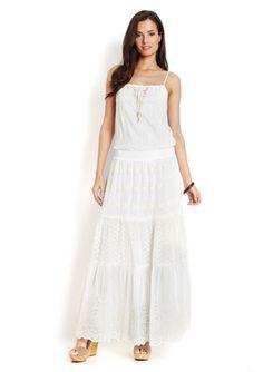 HALE BOB Sleeveless Boho Maxi Dress with Beading