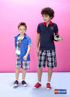 Kids Collection 2015 | Children's day | shorts | print chess | estampa xadrez | shirt | boy shoes | moda infantil | bermuda | camiseta | camisa polo