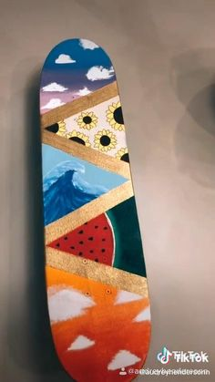 Painted Skateboard, Skateboard Deck Art, Penny Skateboard, Skateboard Design, Skateboard Girl, Custom Skateboard Decks, Custom Skateboards, Cool Skateboards, Beginner Skateboard