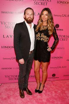 Caleb Followill and Lily Aldridge at the Victoria's Secret Fashion Show.