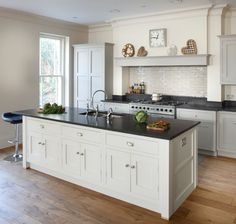 Esher Grey Shaker Kitchen - transitional - Kitchen - London - Brayer Design