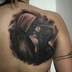 Tattoo done by: Rafal Makarow #boyfriend #girlfriend #kiss #tattoo