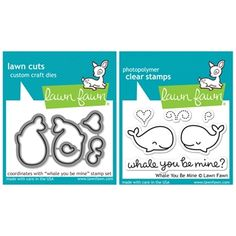 Lawn Fawn SET LF214WYBM WHALE BIG LOVE Clear Stamps And Dies
