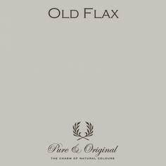Old Flax by Pure & Original. All our colours are made with 100% mineral pigments and are very environment friendly.