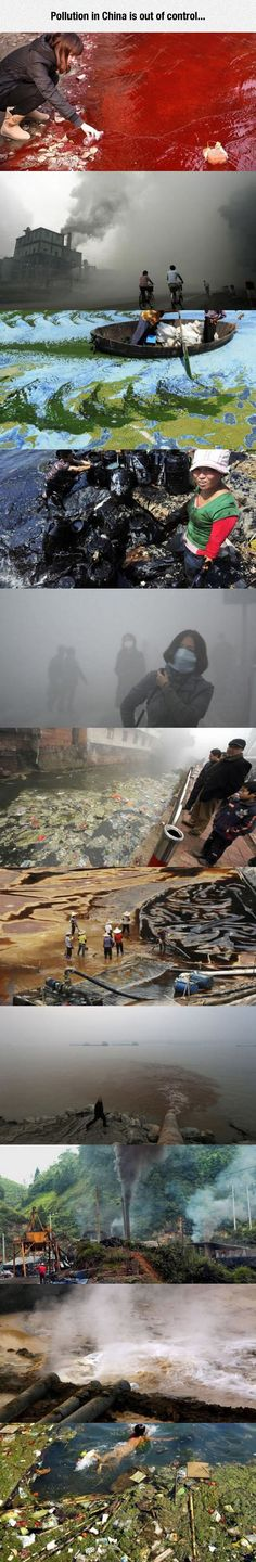 China�s Pollution Has Become A Very Serious Issue - think it's because about everything is manufactured in China and they are suffering for it.
