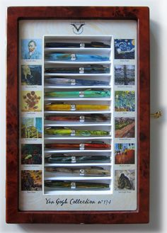 The complete Visconti Van Gogh 12 Fountain pen collection at once, no more waiting! Luxury Pens, Pen Collection, Best Pens, 3d Pen, Writing Pens, Fountain Pen Ink, Rollerball Pen, Pen And Paper, Writing Instruments