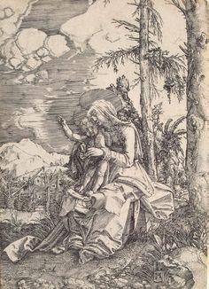 Madonna en het Kind dat de natuur zegent ~ 1515 ~ Lijngravure ~ 16,3 x 11,8 cm. ~ Adolf Ulrich-Museum, Braunschweig