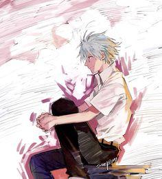 EVANGELION Neon Genesis Evangelion, Evangelion Kaworu, Anime Nerd, Another Anime, Akira, Fan Art, Illustration, Pictures, Character