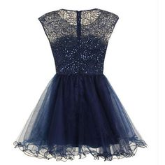 homecoming dress, short homecoming dress, junior homecoming dress, short navy prom dress, party prom dress, BD14908