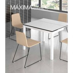 Mesa cocina Maxima pequeña extensible 80