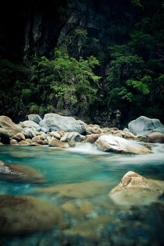 The Blue waters of Taroko National Park in Taiwan